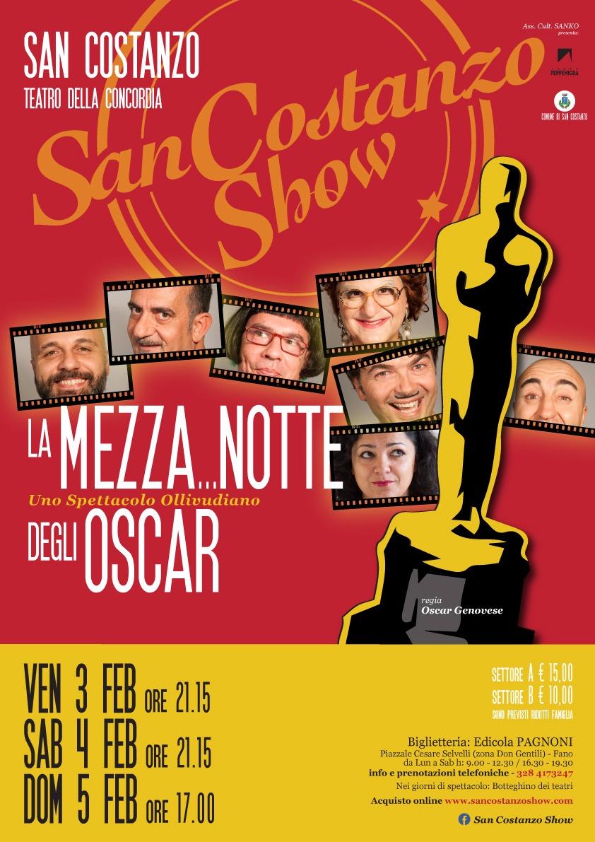La Mezza...Notte degli Oscar - Uno spettacaolo Ollivudiano - San Costanzo Show - Teatro della Concordia di San Costanzo